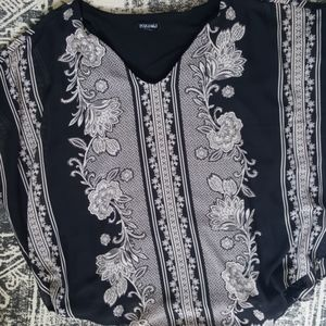 Black Handkerchief Top